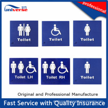 Custom Plastic Tactile Toilet Signs