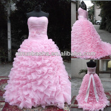 NW-488 Ruffle Skirt Ball Gown Real Sample Wedding Dress 2014