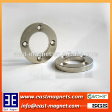 Ring NdFeB Permnent Magnet with Four Countersunk Hole/disc ndefb Magnet with Four Countersunk Hole