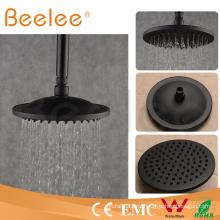 8 pulgadas de latón redondo mate cabezal de ducha de negro lluvia de ahorro de agua cuarto de baño cabeza de ducha superior