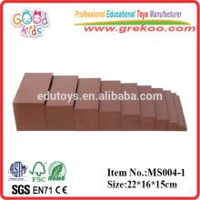 2015 nueva escalera de Montessori marrón, los niños populares de juguete educativo marrón escalera, escalera de color marrón venta caliente