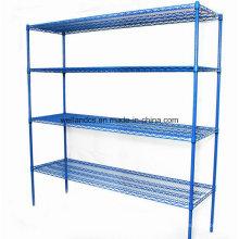 Custom Epoxy Metal Wire Carpet Storage Racks pour entrepôt / chambre à froid