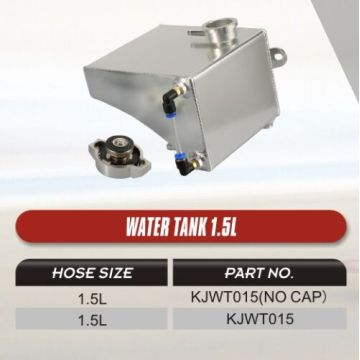 Water tank 1.5L with or without cap
