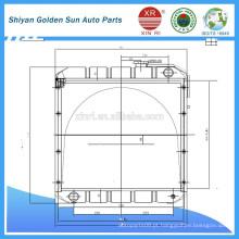 Radiador de cobre para veículos agrícolas Myanmar da fabricação de Shiyan na China.