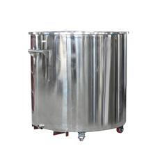 High pressure homogenizer with stainless steel mixing tank