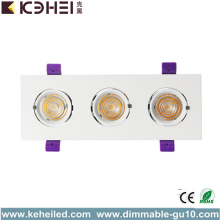 COB LED Downlights Recessed Floodlights 3*12W 4000K