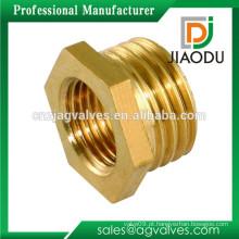 Yuhuan fabricante baixo preço personalizado cnc peças latão conector de tubo hexagonal latão bush