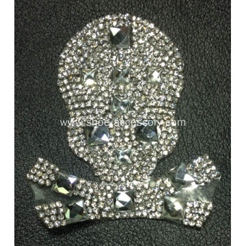 Unique Skeleton's Design Rhinestone Motif Crystal Glass