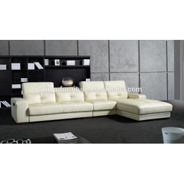 Home furniture leisure style white leather living room sofa KW341