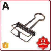 Fully stocked factory supply golden binder clips in tin box