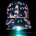2016 Boné de beisebol de venda quente do diodo emissor de luz com luz do diodo emissor de luz na viseira