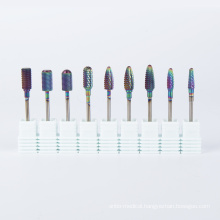 2020 Rainbow 3 Grits In One Carbide Nail Drill Bit 3 Way Manicure Carbide Bur
