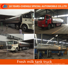 30m3; Fresh Milk Tank Truck 8X4 Milk Tanker Truck for Sale