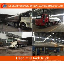 30m3; Caminhão-tanque de leite fresco 8X4 caminhão-tanque de leite para venda