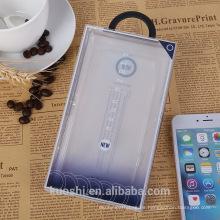 Caja de empaquetado plástica plegable del PVC claro del PVC para la caja del teléfono celular