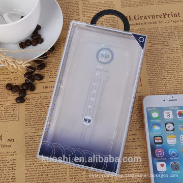 Clear PVC PET Folding Plastic Packaging Box for Cell Phone Case