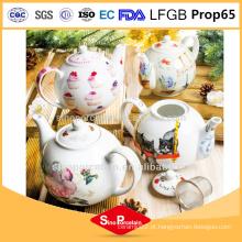 1 L bule de porcelana com filtro funky bule de chá de cerâmica