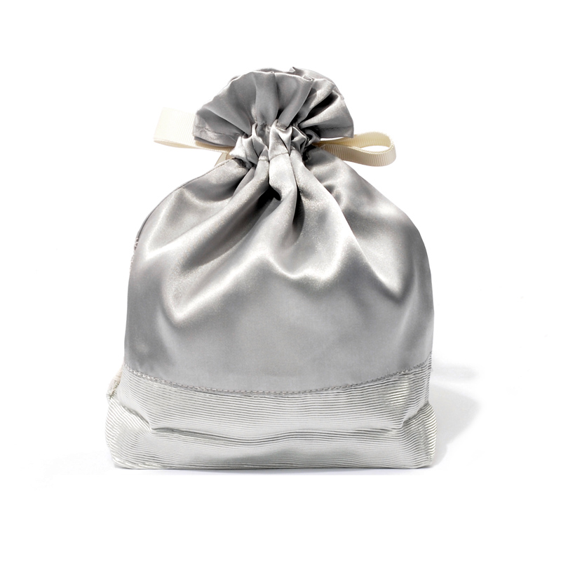 Satin Bag With Gray