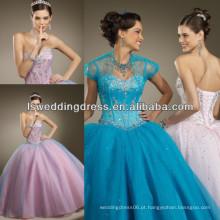 HQ2006 2014 Moda em camadas bordadas quinceanera vestidos
