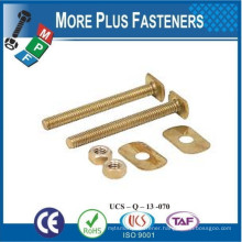 Made in Taiwan Brass Stainless Steel Hex Head Countertop Closet Draw Bolt