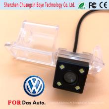 Mini caméra voiture avec 4 lumières LED adaptées pour Volkswagen 2011 Golf Polo Magotan Passat Cc