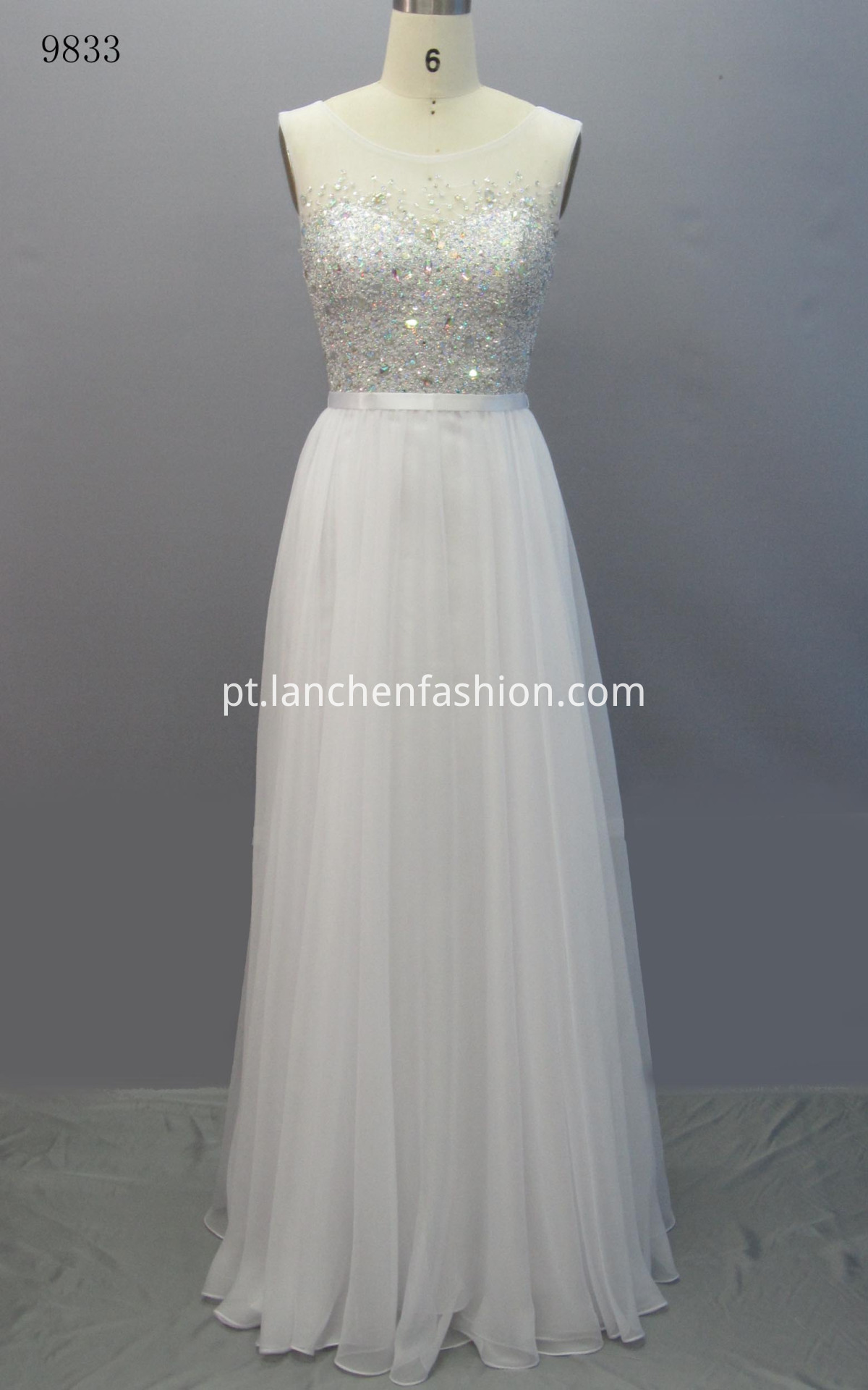 Lace Sleeveless Prom Dress