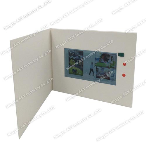 7.0inch Video Player Cards,MP4 Player Brochure,Video Promotional Brochure