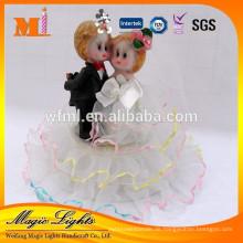 Hübsche Puppe Stoff Hochzeitstorte Dekoration Zubehör