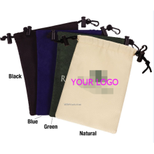 Nylon drawstring pouches with safelock and keyring