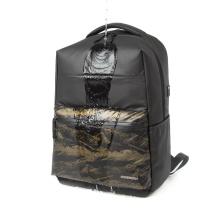 2020 New nylon leather black sport  backpacks bookbags men smart  office back pack waterproof school bag custom logo