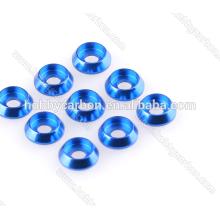 Hochwertige M3 Aluminium Senkkopfscheibe farbig