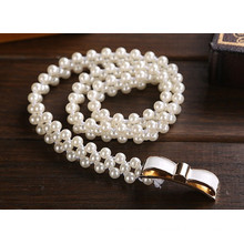 Hot sale beaded pearl belt for webbing beaded bridal sash belt