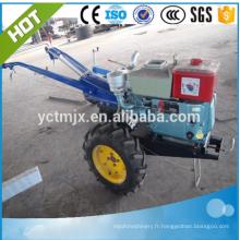 Tracteur de marche de moteur diesel de 15HP avec la barre rotatoire