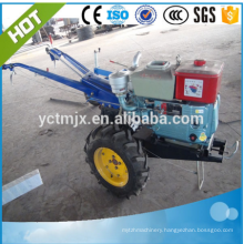 15HP diesel engine walking tractor with rotary tiller