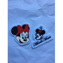 Mini Mouse Shape Embroidery Sew On Patches