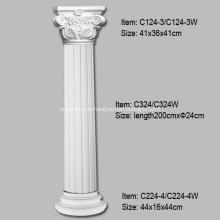 Definición de columnas estriadas para decoración de interiores