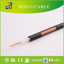 Cabo coaxial Rg213 da alta qualidade do revestimento do PVC 50ohm (CE, ETL, RoHS, REACH, UL aprovado)