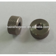 stainless steel round knurled nut