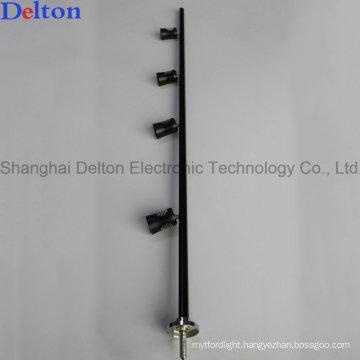 Black 4 Light Flexible LED Pole Light for Jewelry Showcase Lighting