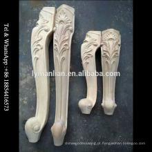 Pés de móveis de madeira esculpida pernas de mesa de boa qualidade
