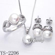 Art- und Weiseschmucksache-Perlen-Satz 925 Silber für Partei (YS-2206)