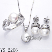 Fashion Jewelry Pearl Set 925 Silver for Party (YS-2206)