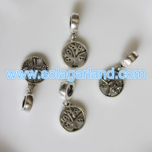 12MM 25MM  Round Tibetan Silver Bead Charms Pendants Bead Necklace
