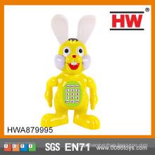 Brinquedo educacional do bebê do coelho do plástico aprendendo adiantado