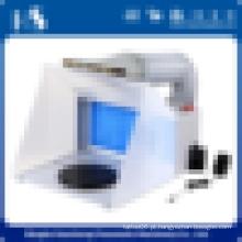 HS-E420DCK home airbrush pintura usar cabine de pulverização com alimentação CC