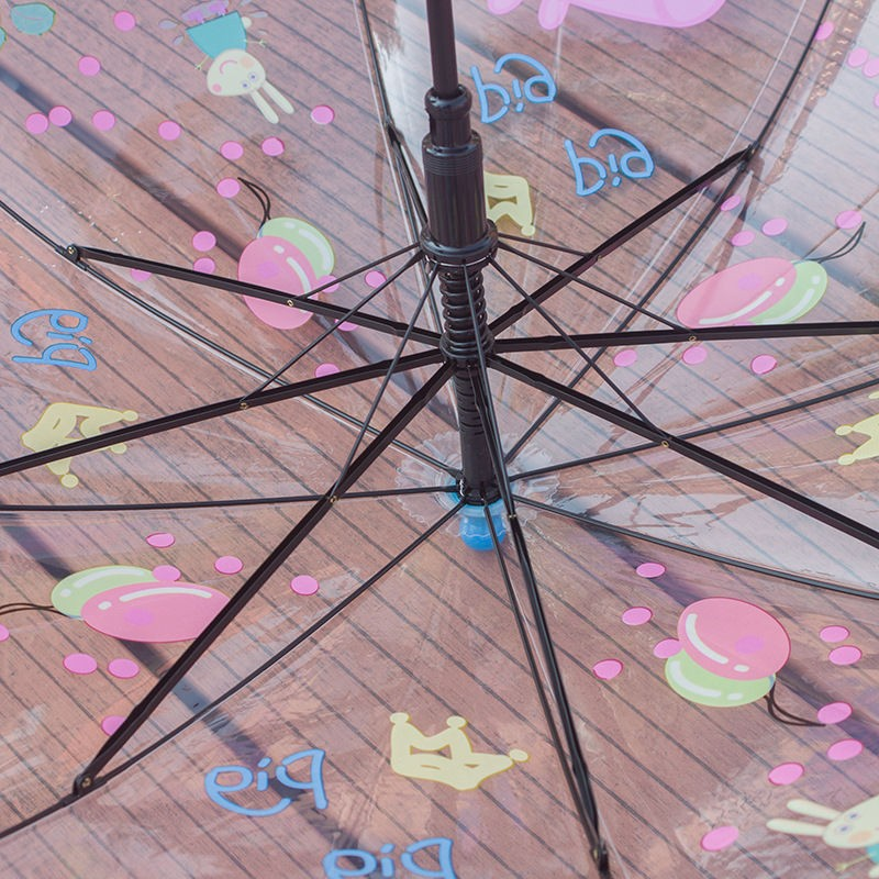 Kid Peppa Pig Auto Promotion Transparent Rain Umbrella01