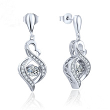 Jóias de moda Dancing Diamond 925 Silver Dangle Earring