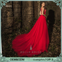 Long dress designs frocks red evening dress beaded net frock design elegant party evening gown