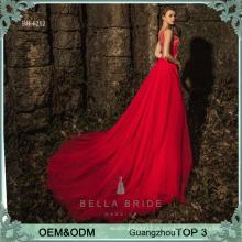 Vestidos de vestido longo vestidos vestido de noiva vermelho vestido com contas de linho vestido de festa partido elegante