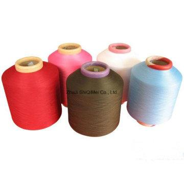 Fábrica directamente en Nylon, spandex del poliester cubierto hilado